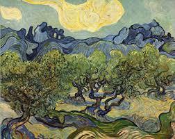 vincent van gogh landscape with olive trees
