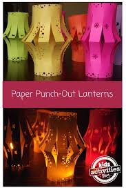paper punch out lanterns lantern craftslight
