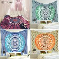 indian mandala tapestry wall hanging multifunctional tapestry boho printed bedspread cover yoga mat blanket picnic cloth