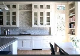 best backsplash for grey cabinets grey arabesque shape mosaic tile against white