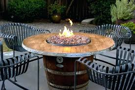 barrel fire pit image of wine barrel fire pit table outdoor focal point whiskey barrel fire pit