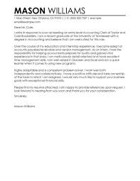 Best Accounting Clerk Cover Letter Examples Livecareer Tips Finance