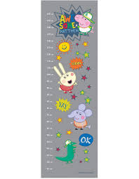 Identity Direct Personalised Peppa Pig Awesome George Growth Chart