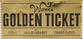 Golden Ticket front | Fabrica de chocolate, Chocolate, Bilhete