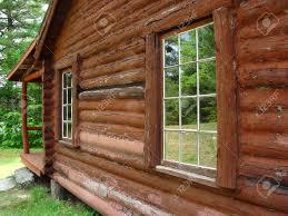 Cabin Windows the windows of a log cabin reflecting the scenery stock photo 6414 by uwakikaiketsu.us