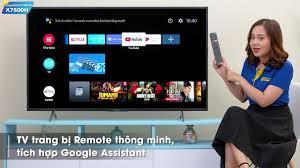 Android Tivi Sony 4K 55 inch KD-55X7500H - giá tốt, có trả góp