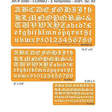 Lettering Templates Liquidraw Old English Letter Stencils Set Of 3 10mm 15mm
