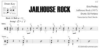 Drum Charts Jailhouse Rock Elvis Presley Drum Sheet Music