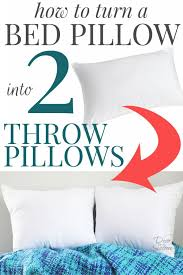 Cheap Decorative Pillows Under 10 New How To Turn A Bed Pillow Into Throw Pillows DIY Throw Pillows
