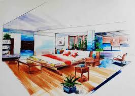 interior design hand drawings. 1020x727 Emejing Interior Designers Drawings Images Design Hand R