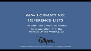 Apa Reference Lists A More Detailed Explanation
