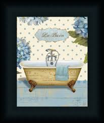 Framed Art Bathroom Thinking Of You Bath I By Daphne Brissonnet Art Print Framed