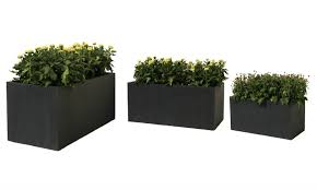 Planters. Amusing Rectangular Plant Pots: Rectangular Plant Pots In Oblong  Flower Pots