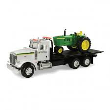 find john deere big farm peterbilt model 367 w flatbed and john deer 4020 tractor set in the toy cars trucks at tractor supply
