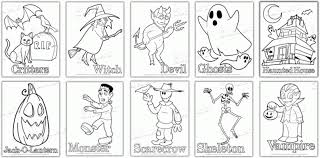 Small Picture Halloween Coloring Page PdfColoringPrintable Coloring Pages Free