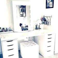side storage vanity side storage vanity set table best makeup with dressing mirror and shelves for