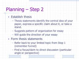 let s make a plan preliminary exercise explain the importance of  5 planning