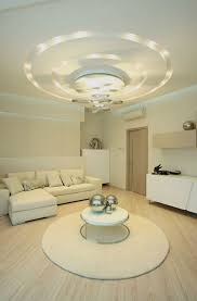 decorations dazzling modern round false ceiling design feat cool lighting plus unique hanging lamp over l shape white sofa how to decoration ceiling