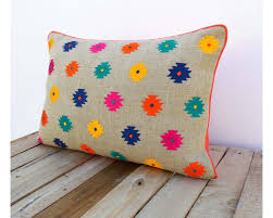 indian antique french cushions. Colorful Bohemian Style Linen Pillow Cover, Embroidered Moroccan Case, Tribal Indian Cushion Peruvian, Antique French Cushions