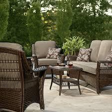 La Z Boy Scarlett 4 Piece Seating Set Grey Outdoor Living