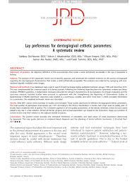 Esthetic Design Concepts Pdf Lay Preferences For Dentogingival Esthetic Parameters
