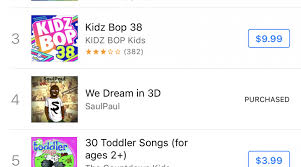 Itunes Children S Music Charts Saulpaul Charts On Itunes Twice In One Day Saulpaul A