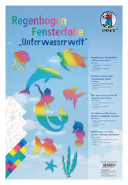 23cm X 33cm 7 Blatt Fensterfolie Farbig Transparent Ursus Ludwig Bähr