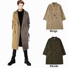 trench coat long coat men trench coat long coat men long coat punk rock fashion men outer outer men mode system men winter clothing winter clothes double