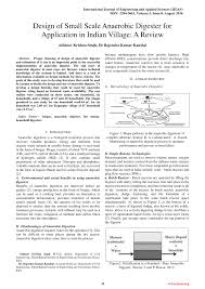 Anaerobic Digester Design Example Pdf Design Of Small Scale Anaerobic Digester For