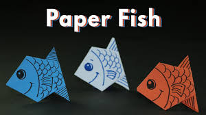 Kids Craft Kids Craft Ideas Origami Paper Fishes For Kids Simple And Easy