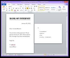 Create Docx Doc Pdf And Images Using Mail Merge In Net