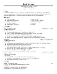 Police Officer Resume Template Stunning Military Police Officer Resume Sample Loss Prevention Template
