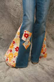 custom hippie patch bell bottom disco jeans groovy all sizes