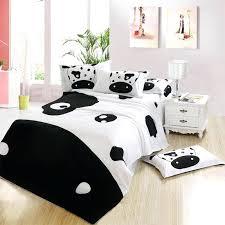 cow print bedding set fashion black and white cow quality cotton queen full size bedding set girls duvet quilt sheet set textile gift sets duvet zebra