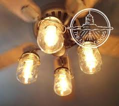 edison bulb ceiling fan. Edison Bulb Ceiling Fan Light Kit Intended For Mason Jar With I