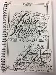 эскиз для татуировки Future Mistake Tattoo Book Female Name