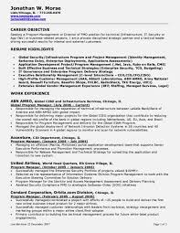 Project Manager Resume Objective Project Management Resume Objective