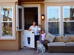exterior back door with dog door. exterior door with dog style back n