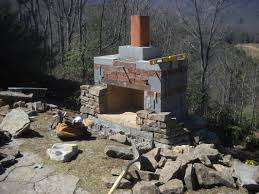 Of Outdoor Fireplaces Old Brick Outdoor Fireplace The Great Combination For The
