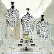 crystal pendant lighting for kitchen. dinggu modern 3 lights crystal pendant lighting for kitchen island and dining room amazoncom e