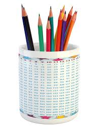 Amazon Com Ambesonne Educational Pencil Pen Holder Chart