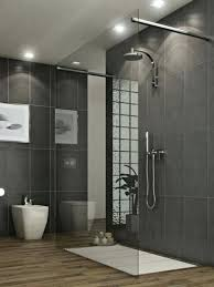gray tile bathroom white walls wall color wood floor