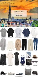 Packing Light For Europe What To Pack For A Month In Europe In Summer Wanderlust