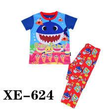 boys shark pajamas promotion shop for promotional boys shark whole 2017 boys blue baby sharks pajamas sets kids cartoon pyjamas children summer clothing sets for 2 7y xe 624