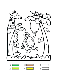 Giraffe Loose In Colorado Remix Coloring Pages Pdf Color Number ...