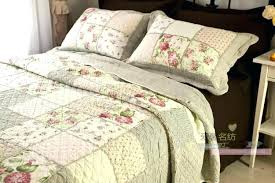 french country style bedding sets quilt bed patchwork