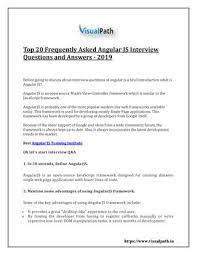 Top 20 Interview Questions Top 20 Frequently Asked Angular Js Interview Questions And