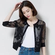 fashion womens black print jackets coats spring summer las tops loose shawl cardigan women s cover up