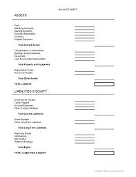 Balance Sheet Form Good Advice Small Business Simple