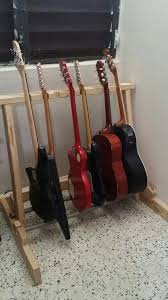 diy multiple guitar rack made with leftover wood and